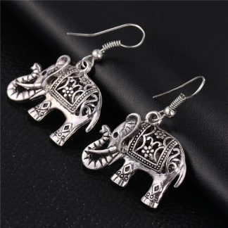 Tibetan style elephant earrings