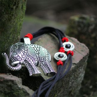 Tibetan Silver Elephant Necklace