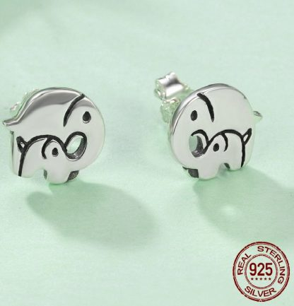 Beautiful Mother Baby Elephant Earrings