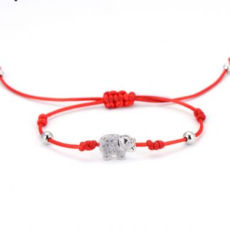 Red String Elephant Bracelet
